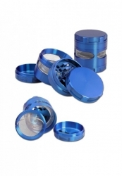 Metal Grinder 4-part blue