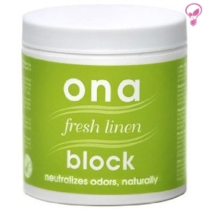 ONA BLOCK fresh linen 175ml  - ароматизатор за јаки миризби